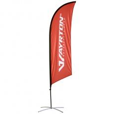 Vlajka AYRTON - vč. stojanu, zátěže a obalu, výška 2,5 m