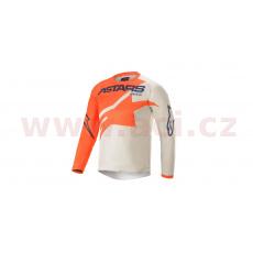 dres RACER BRAAP 2021, ALPINESTARS, dětský (oranžová/světle šedá/modrá)