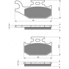 brzdové desky GOLDFREN 205 S3