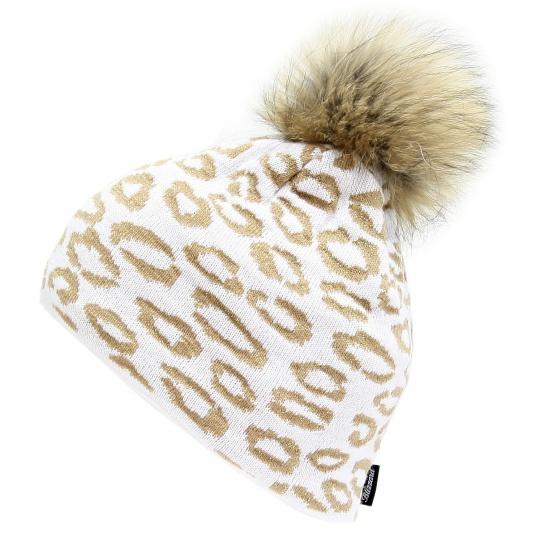 čepice BLIZZARD Leopard, white