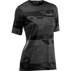 Dámský cyklo dres Northwave Xtrail Jrs S/S tb - M Black/Grey