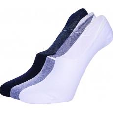 ponožky AUTHORITY Invis Socks 3pck UNI, black, white, shadow