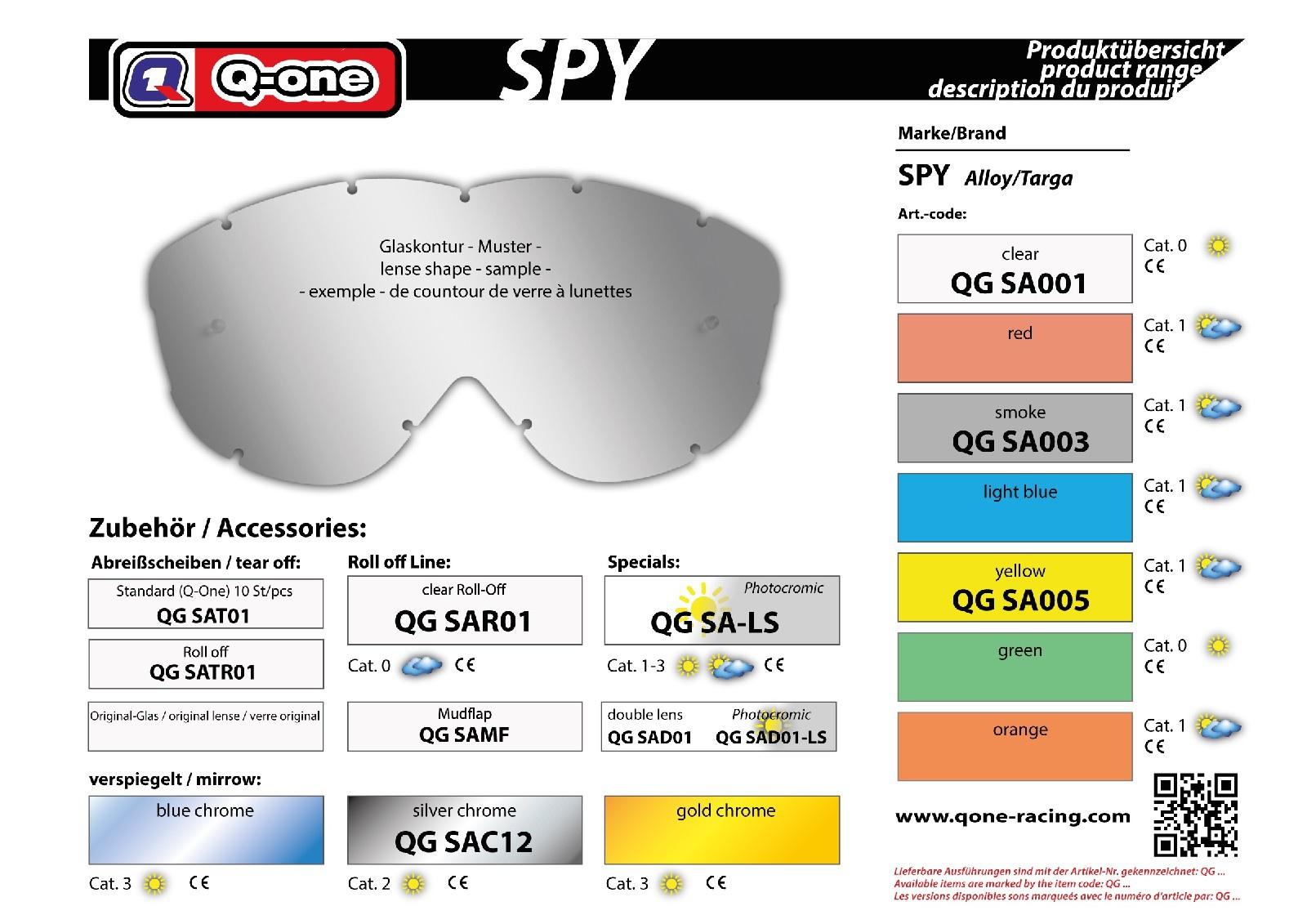 sklo Spy Alloy smoked