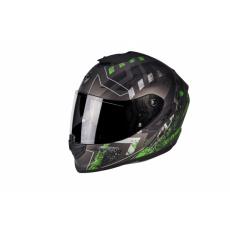 Moto přilba SCORPION EXO-1400 AIR PICTA matná stříbrno/zelená