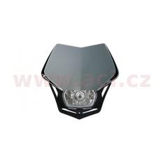 UNI přední maska včetně světla V-Face, RTECH (stříbrno-černá)