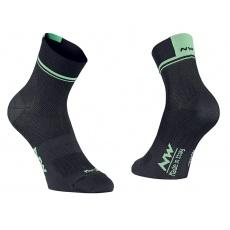 Pánské ponožky Northwave Logo 2 ocks Black/Lime Fluo
