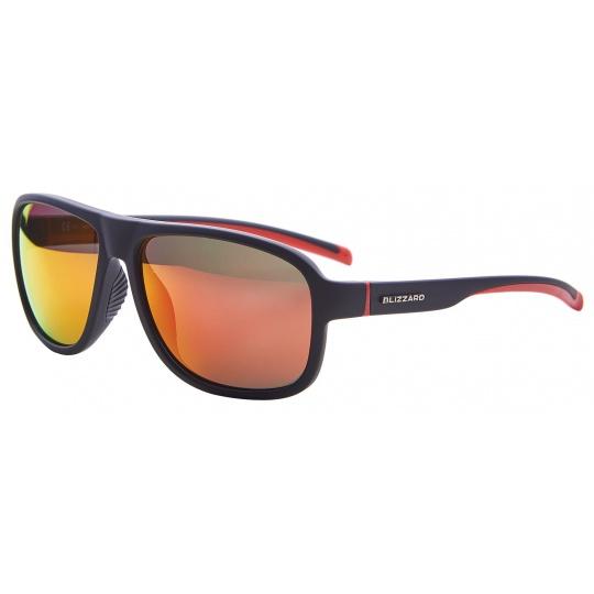 sluneční brýle BLIZZARD sun glasses PCSF705110, rubber black, 65-16-135