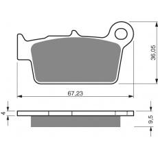 brzdové desky Mino jako GF 187