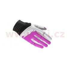 rukavice MEGA-X, SPIDI, dámské (bílá/růžová)