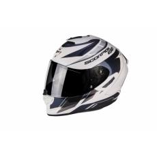 Moto přilba SCORPION EXO-1400 AIR CUP perleťově bílo/modrý chameleon