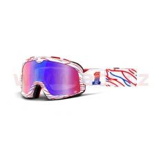 brýle Barstow Death Sprays Customs, 100% (červené/modré zrcadlové plexi)