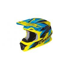 přilba Cross Pro, CASSIDA (modrá/žlutá fluo/černá)