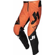 Dětské moto kalhoty JUST1 J-FLEX ARIA černo/oranžové