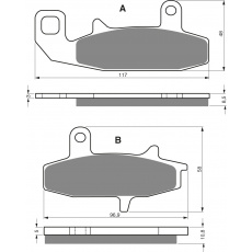 brzdové desky DP jako GF 036
