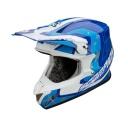 Moto přilba SCORPION VX-20 AIR SPACE modro/bílá/cyan