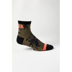 "Cyklo ponožky Fox 4"" Flexair Merino Sock Olive Green"