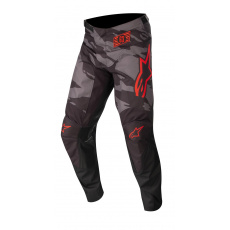 kalhoty RACER TACTICAL 2022, ALPINESTARS, dětské (černá/šedá maskáčová/červená fluo)