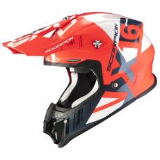 Moto přilba SCORPION VX-16 AIR MACH neonově červeno/bílá