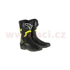 boty S-MX 6, ALPINESTARS (černé/žluté fluo)