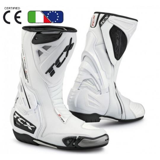 Moto boty TCX S-RACE bílé