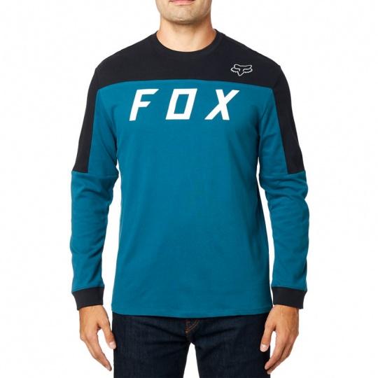 Pánské triko Fox Grizzled Ls Airline Knit Maui Blue