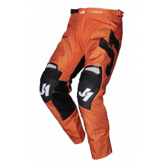 Moto kalhoty JUST1 J-FORCE TERRA černo/oranžové