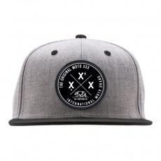 MOTO XXX International Snapback Hat  Grey/Black