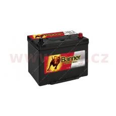 70Ah baterie, 600A, pravá BANNER Power Bull 260x174x200(222)