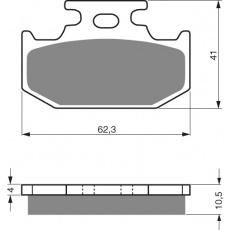brzdové desky GOLDFREN 100 K5