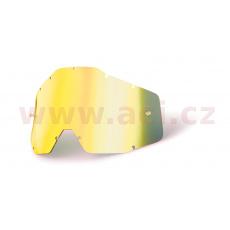 plexi Racecraft/Accuri/Strata, 100% (zlaté chrom, Anti-fog) *