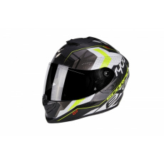Moto přilba SCORPION EXO-1400 AIR TRIKA bílo/černo/neonově žlutá