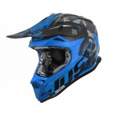 Moto přilba JUST1 J32 PRO SWAT camo modrá fluo