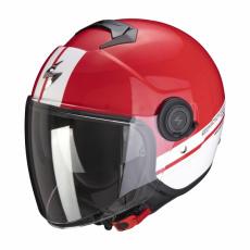 Moto přilba SCORPION EXO-CITY STRADA červeno/bílá