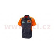 košile REPLICA TEAM KTM, (modrá/oranžová)