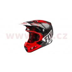 přilba FORMULA VECTOR, FLY RACING (červená/bílá/černá)
