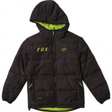 Dětská bunda Fox Youth Wasco Puffy Jacket Black Camor