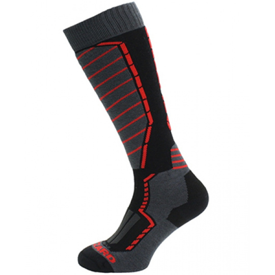 lyžařské ponožky BLIZZARD Profi ski socks, black/anthracite/red