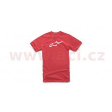triko AGELESS CLASSIC TEE krátký rukáv, ALPINESTARS (červená/bílá)