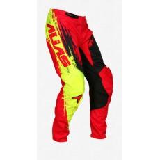 Dětské motokrosové kalhoty ALIAS MX A2 BRUSHED červeno/černé 2436-296