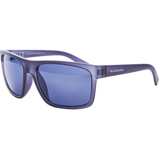 sluneční brýle BLIZZARD sun glasses PCC603111, trans. black matt, 68-17-133