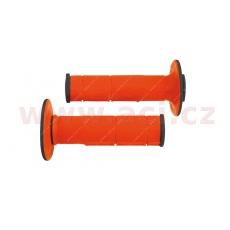 gripy Racing (dvouvrstvé, měkké), RTECH (oranžovo-černé, pár, délka 116 mm)