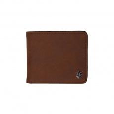 Pánská peněženka Volcom Slim Stone Pu Wlt L Brown