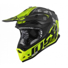 Moto přilba JUST1 J32 PRO SWAT camo žlutá fluo