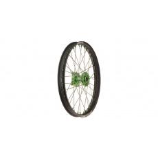"""přední kolo kompletní (21"""" x 1,6"""") KAWASAKI, Q-TECH (černý ráfek, zelený střed)"""