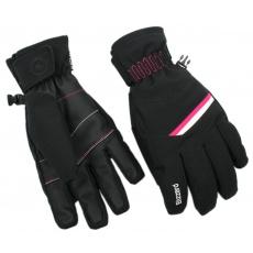 lyžařské rukavice BLIZZARD Viva Plose, black/white/pink