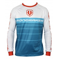 dres MONDRAKER Enduro/Trail Jersey long, petroleum/white/red