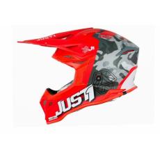 Moto přilba JUST1 J39 KINETIC matná camo černo/šedo/červená