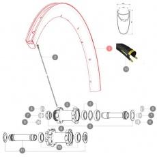 MAVIC KIT FRONT RIM COSMIC PRO CARBON DISC CLINCHER (LV2407900)