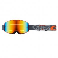 Brýle O´Neal B-20 STRAIN šedá/oranžová, radium červená