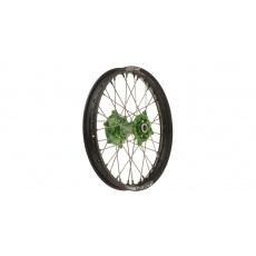 """zadní kolo kompletní (19"""" x 1,85"""") KAWASAKI, Q-TECH (černý ráfek, zelený střed)"""
